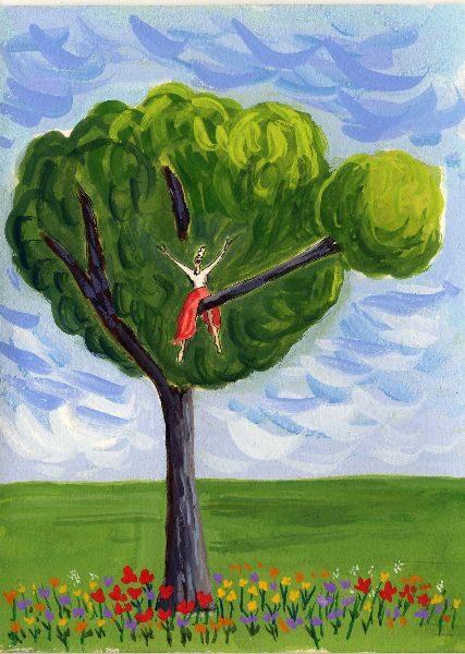 Yoo hoo in tree