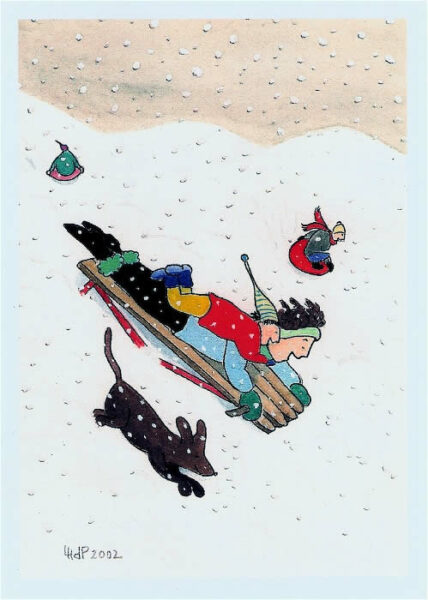 kids-nora sledding