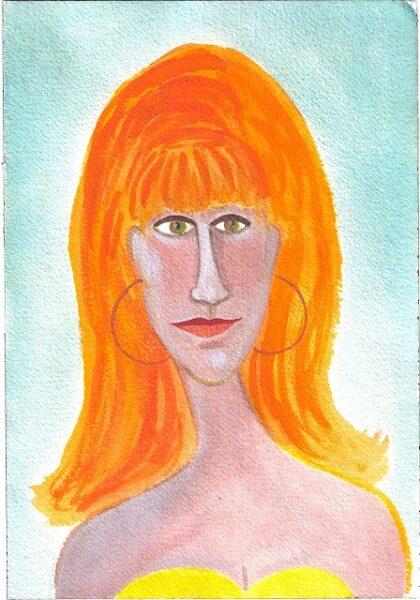 portrait-aussi lady