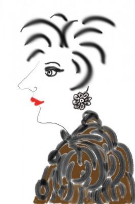 portrait-fur lady