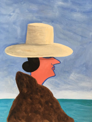 Goddess By the Sea   gouach on paper