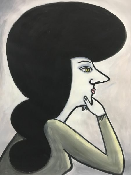 Hairess  acrylic on paper